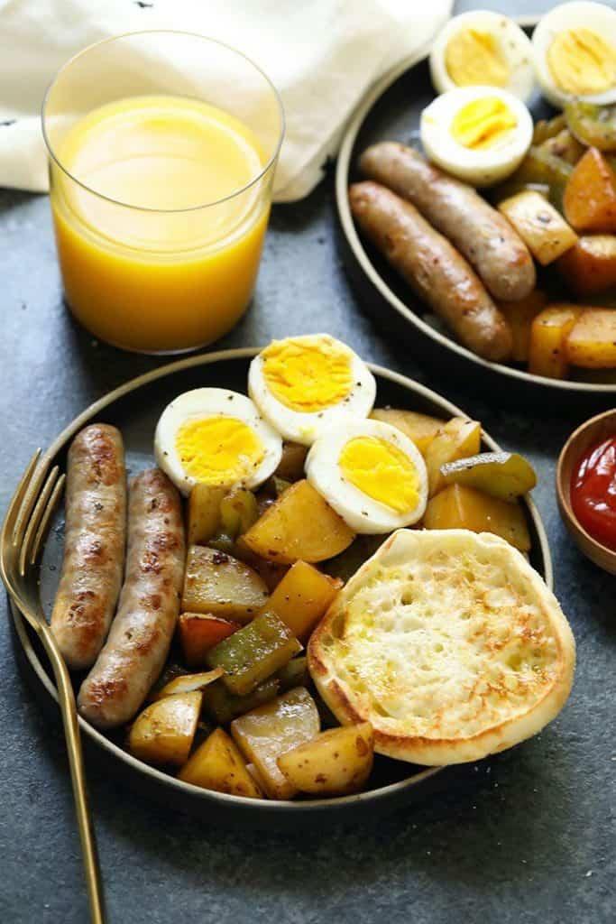 Eggs, Potatoes, and Sauce Breakfast
