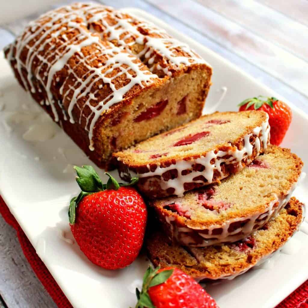 Strawberry Vanilla Quick Bread
