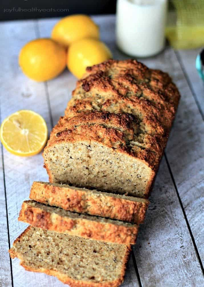 Whole Wheat Lemon Poppyseed Bread with Chia Seeds