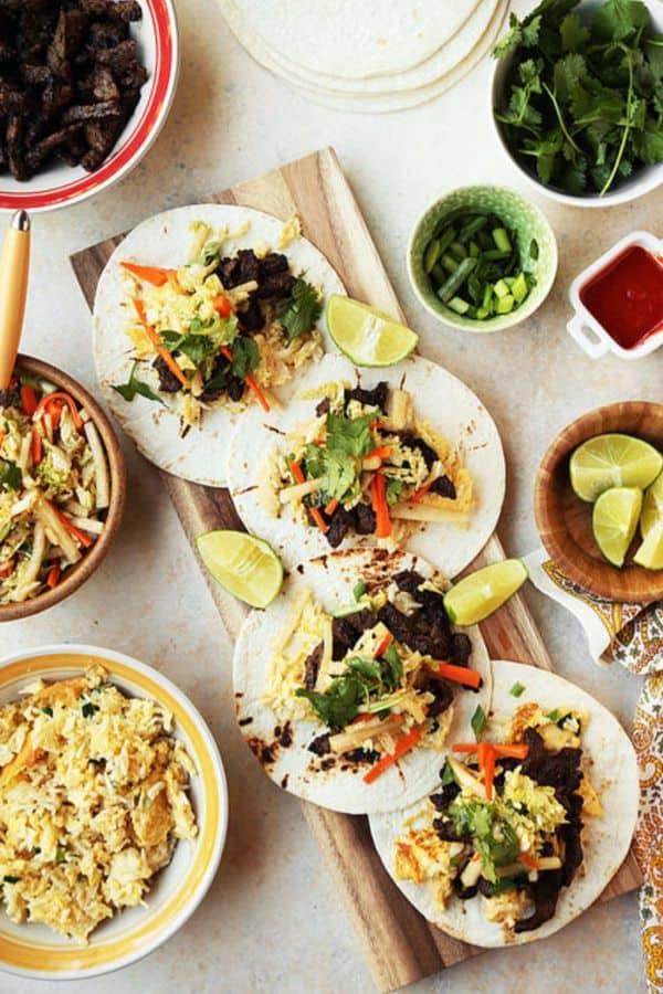 Korean BBQ Breakfast Tacos