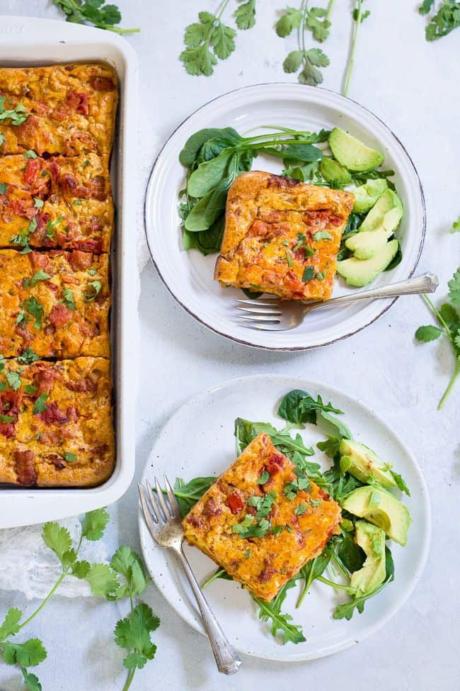 Mexican Breakfast Casserole with Sweet Potato