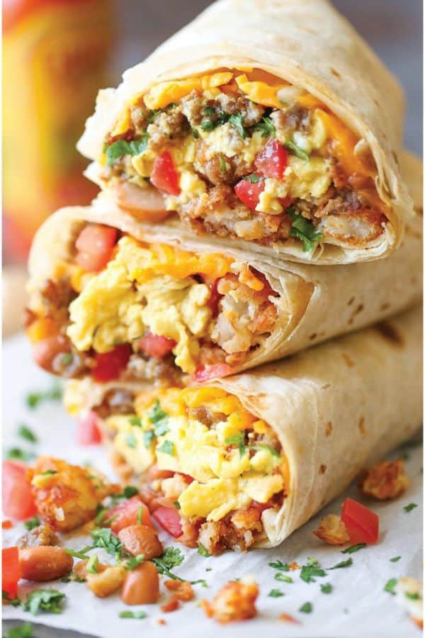 Quick Breakfast Burrito