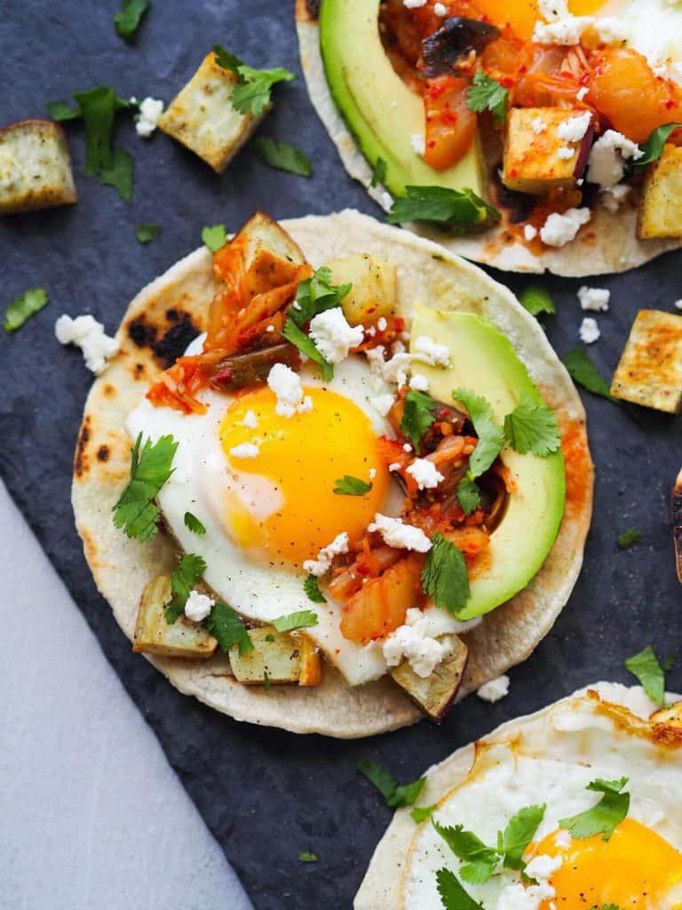 Kimchi Breakfast Tacos