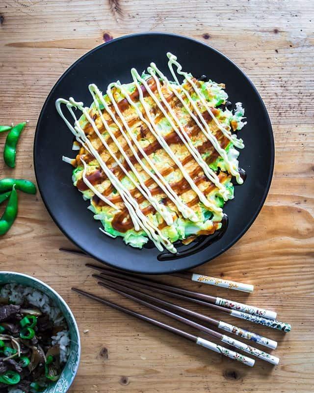 Simple Skillet Okonomiyaki