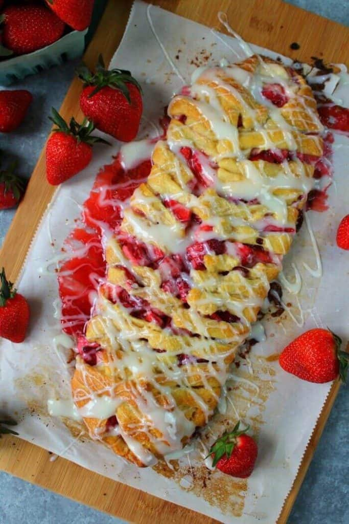 Strawberries and Cream Breakfast Braid