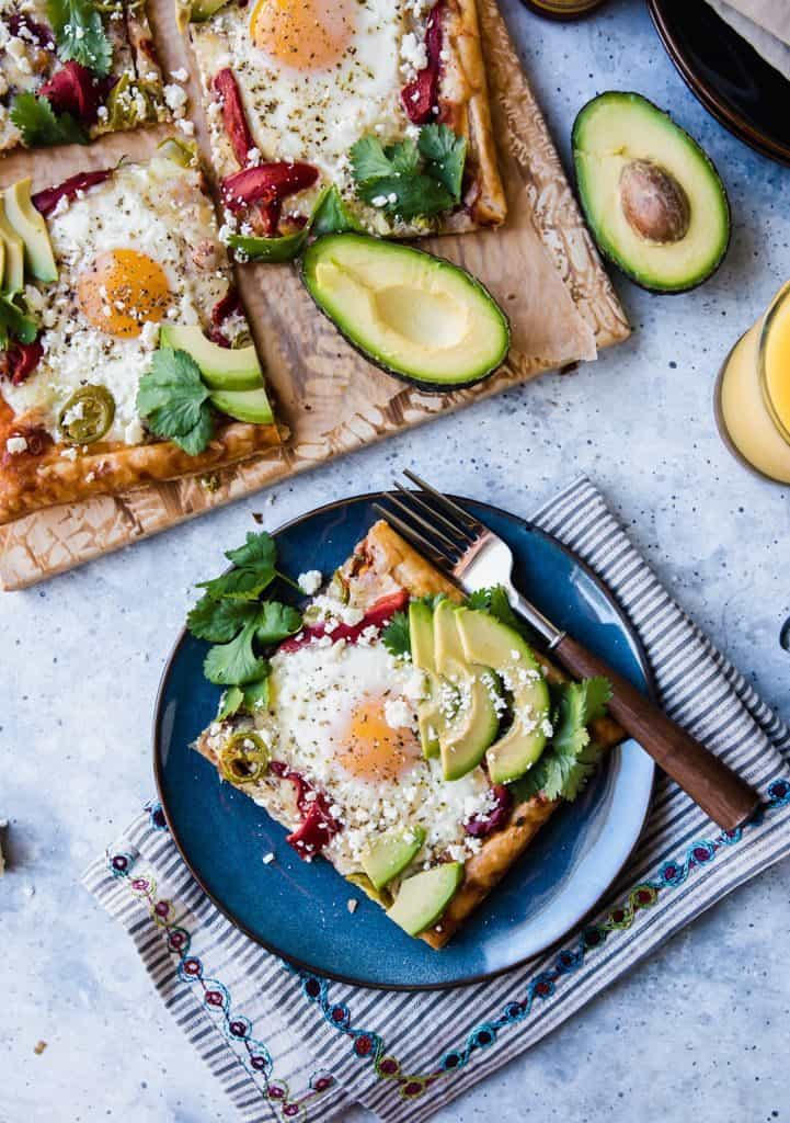 Colorful Mexican Breakfast Pizza