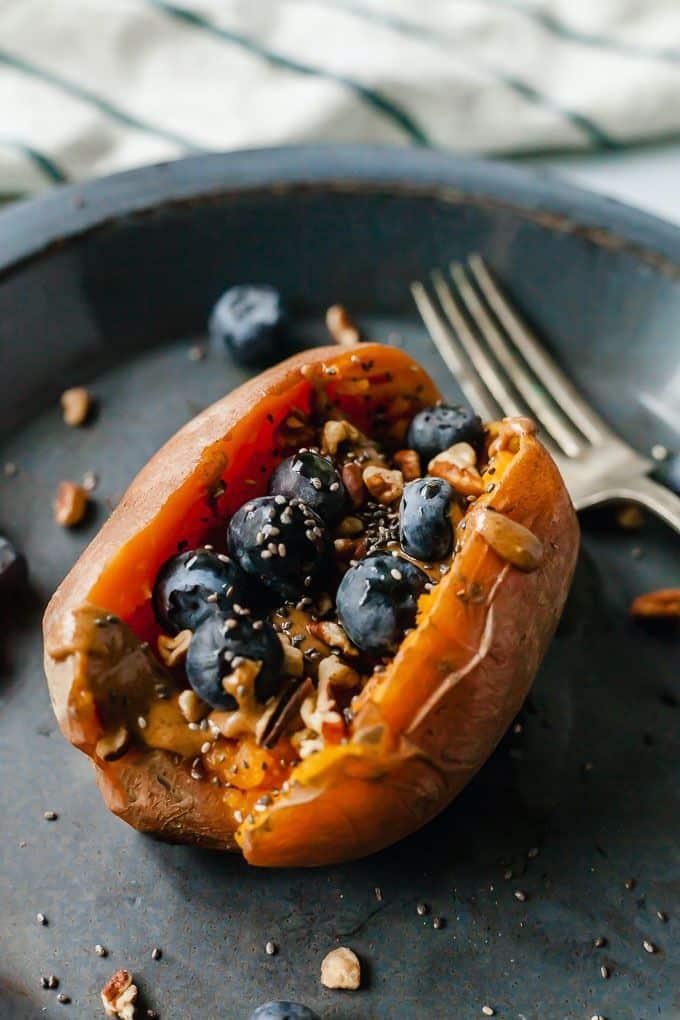 Fruit-stuffed Sweet Potatoes