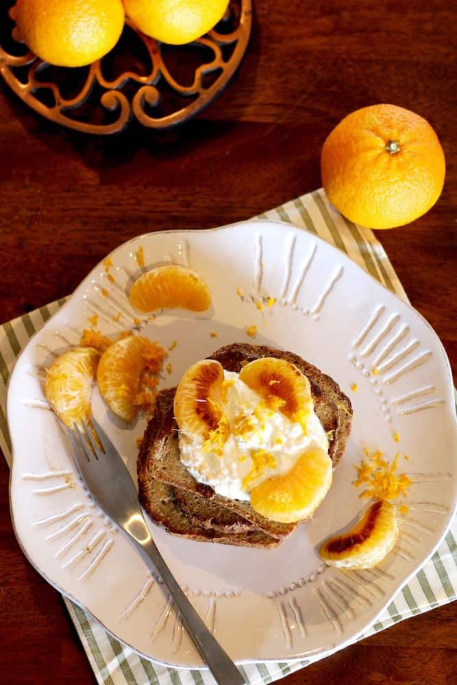 Ricotta and Tangerine French Toast