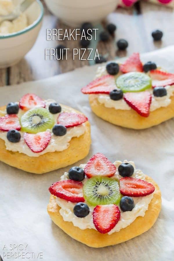 Mini Breakfast Fruit Pizza
