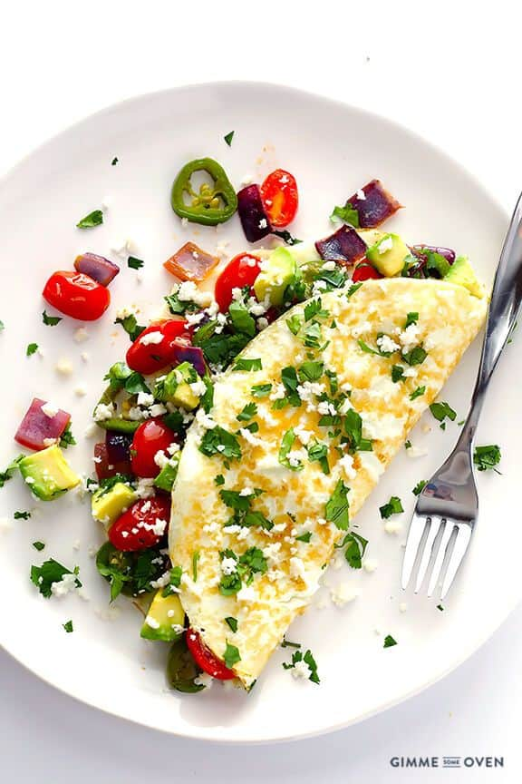 Mexican Omelet from Egg Whites
