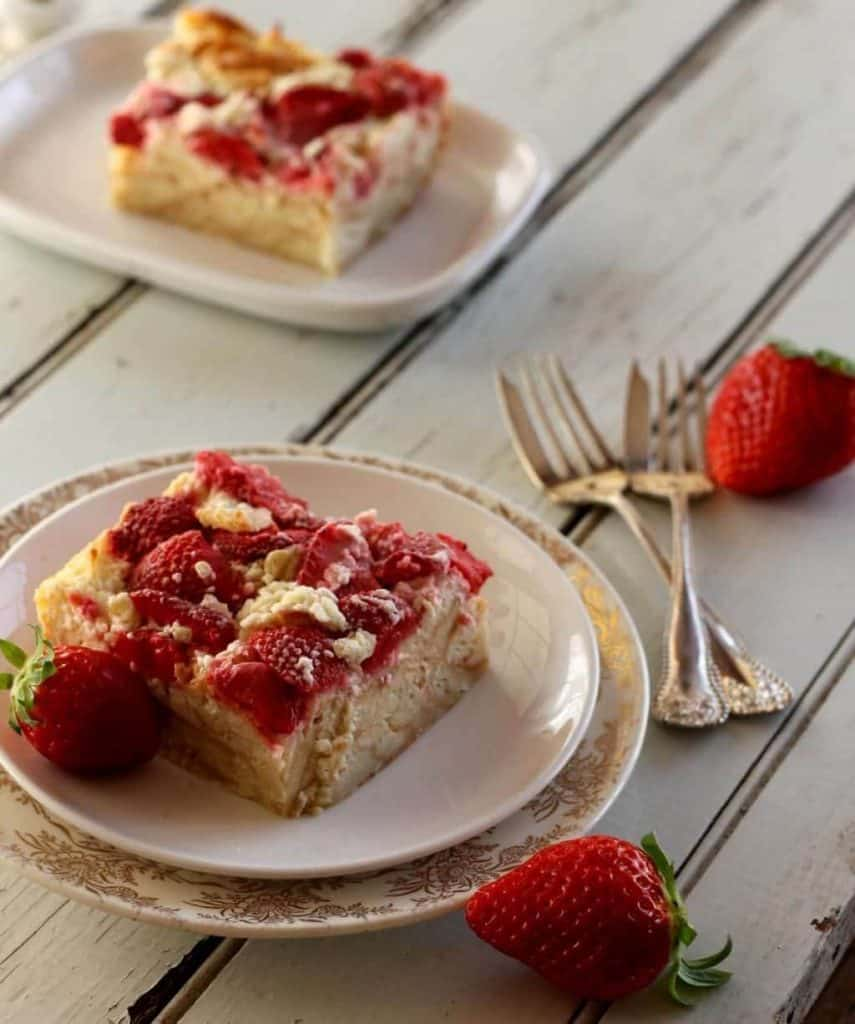Strawberries and Cream Breakfast Bake