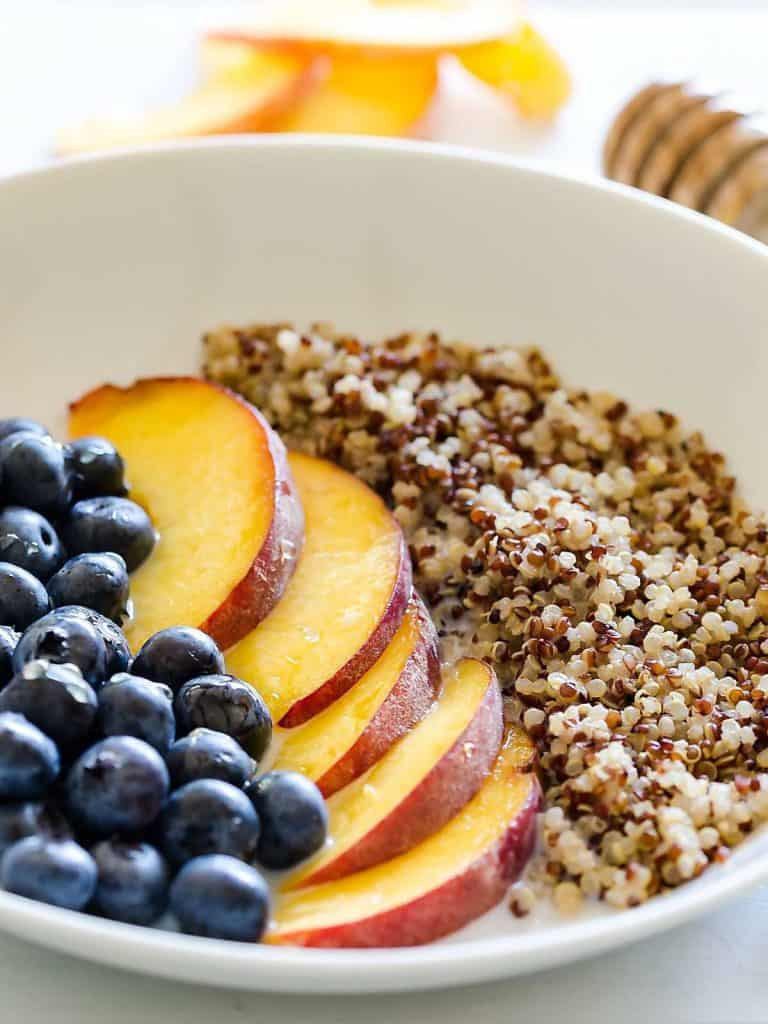 Breakfast Bowl with Milk and Quinoa