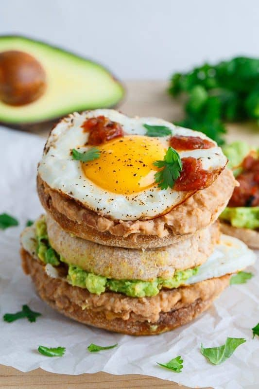Huevos Rancheros as Breakfast Sandwich
