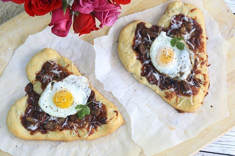 Korean Style BBQ Breakfast Pizza