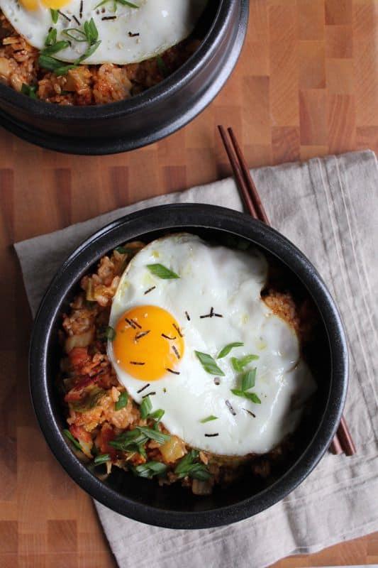 Korean Kimchi Fried Rice Bowl