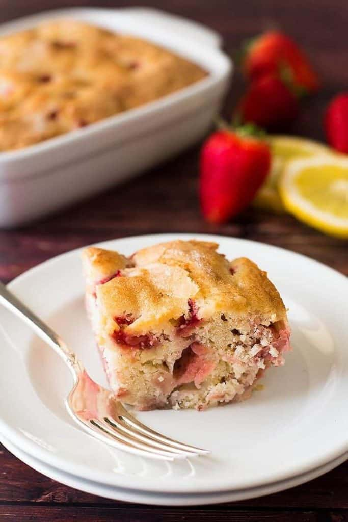 Mini Strawberry Breakfast Cake