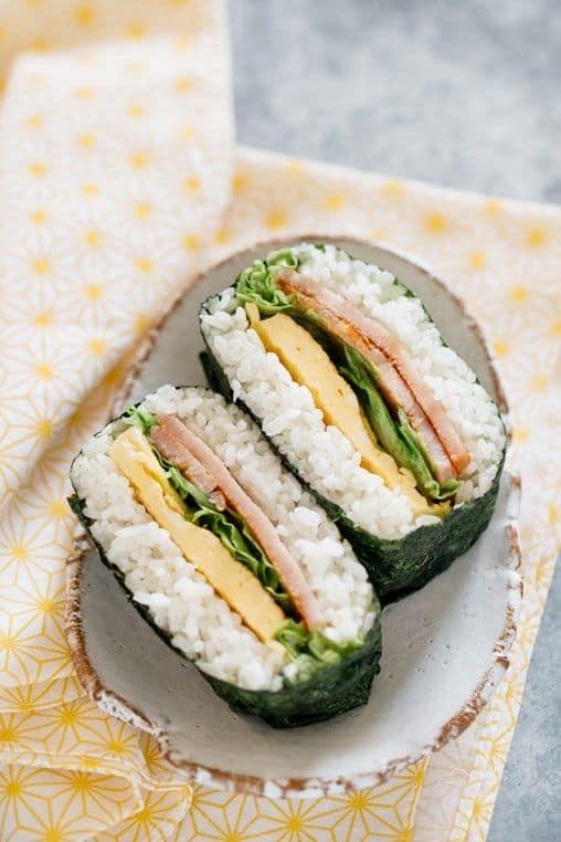 Simple Rice Sandwich