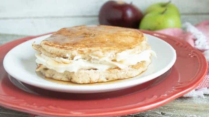 Applesauce Cheesecake Pancakes