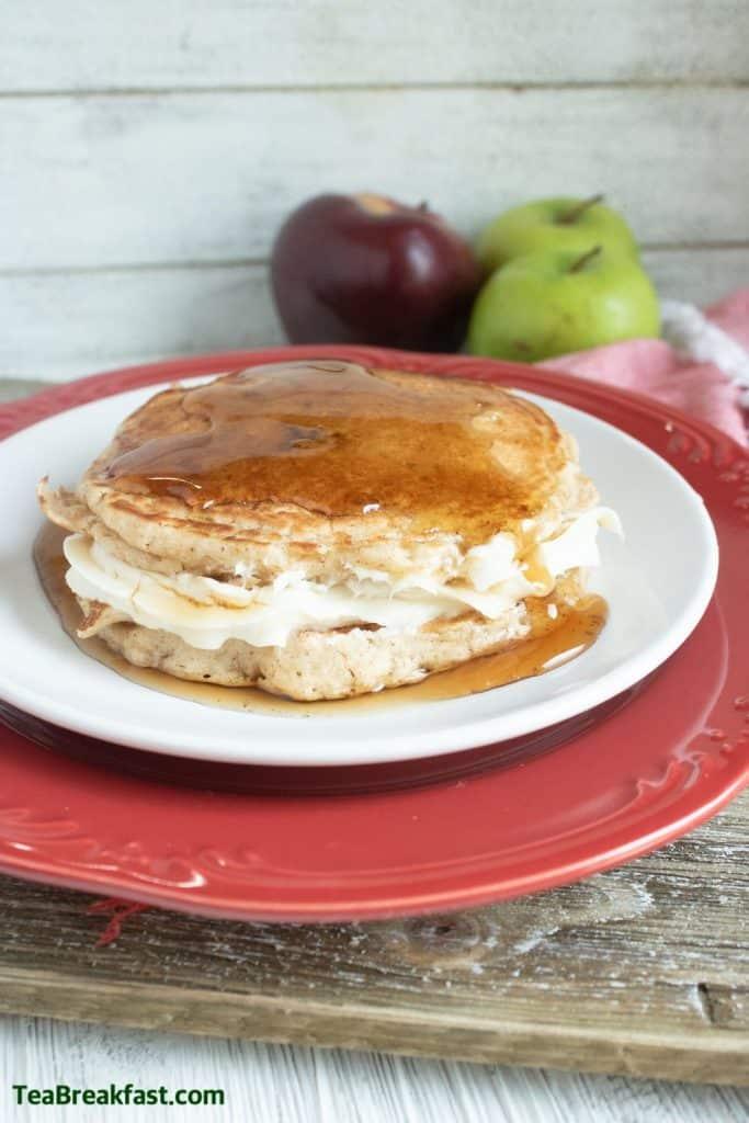 Applesauce Cheesecake Pancakes by TeaBreakfast.com