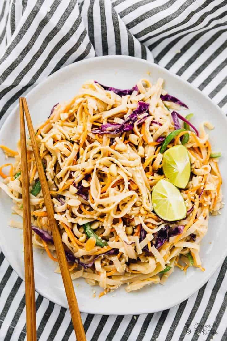 Asian Noodle Salad with Peanut Ginger Sauce