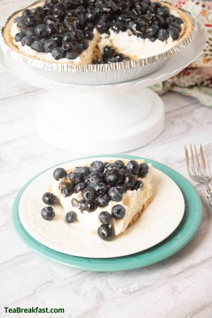 Blueberry Cream Pie by TeaBreakfast.com
