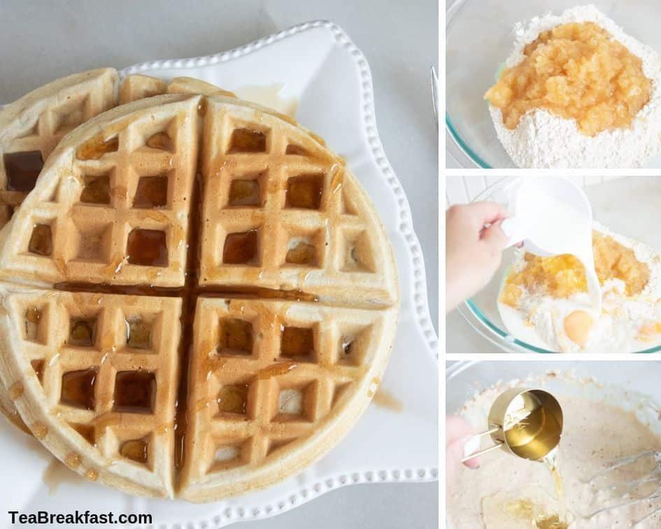 How to Make Applesauce Belgian Waffles
