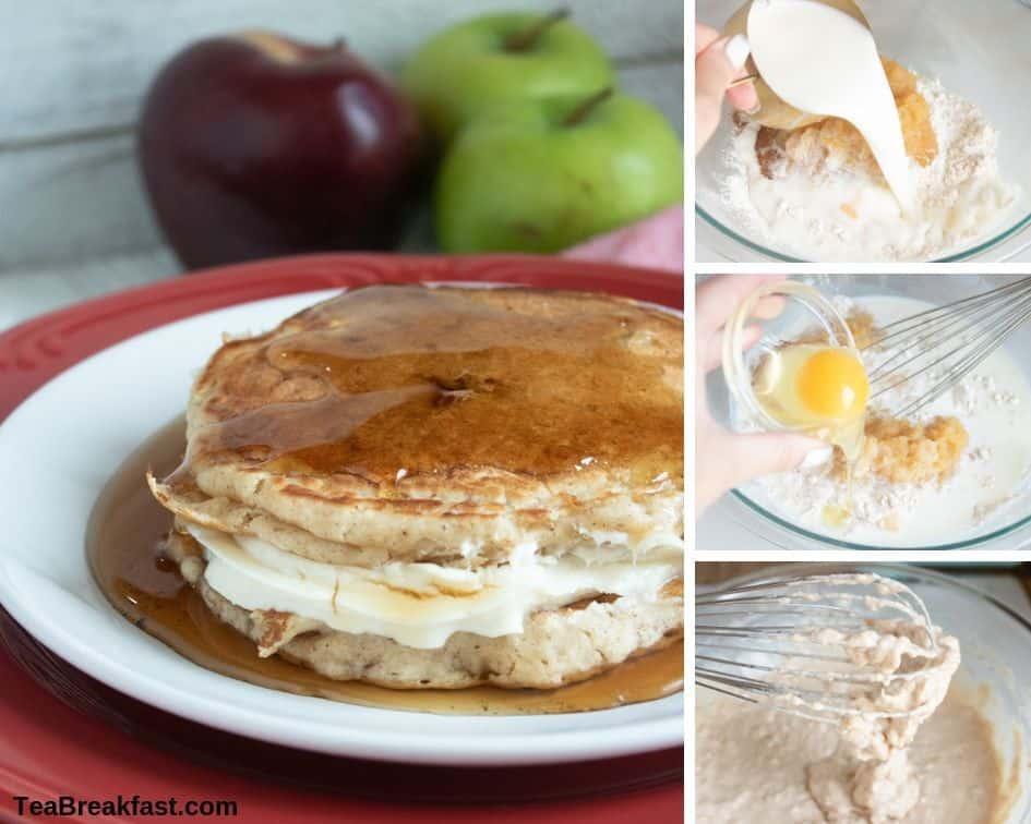 How to Make Applesauce Cheesecake Pancakes