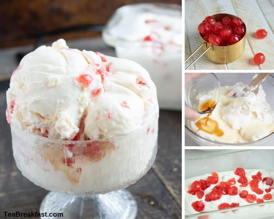 How to Make Candied Cherry No-Churn Ice Cream