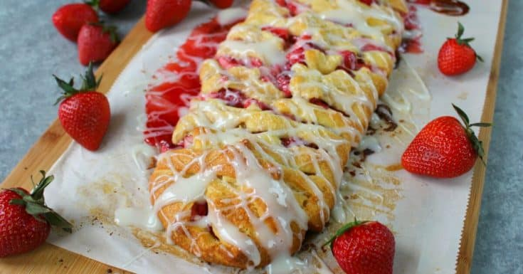 Strawberries & Cream Breakfast Braid