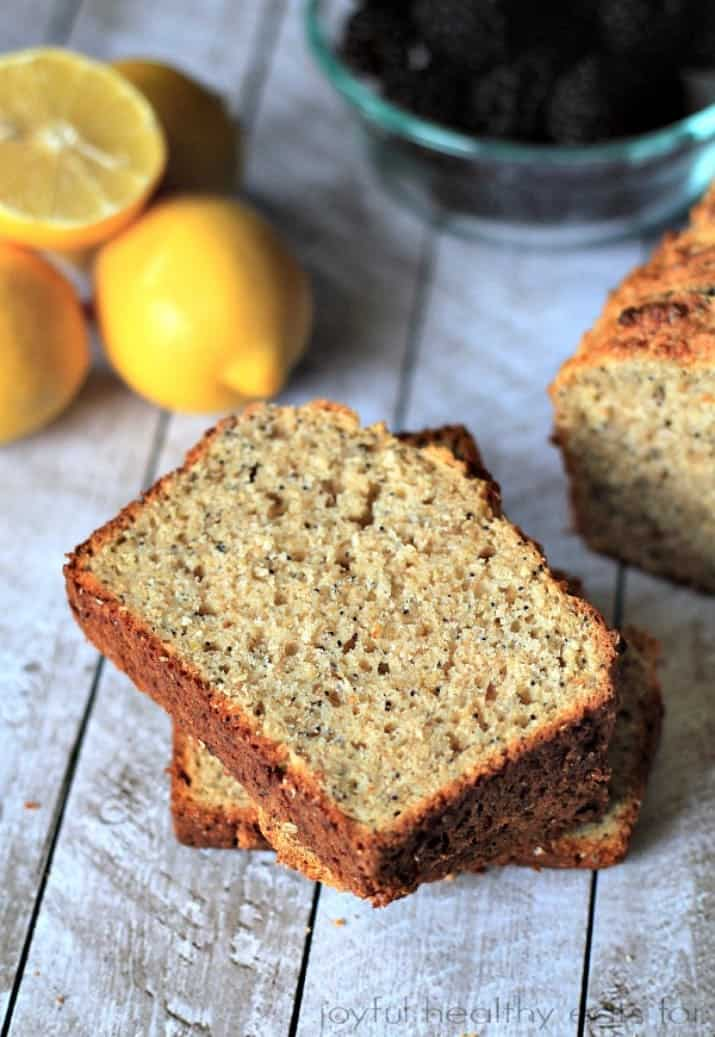 Whole Wheat Lemon Poppyseed Bread with chia seeds| Breakfast Recipe