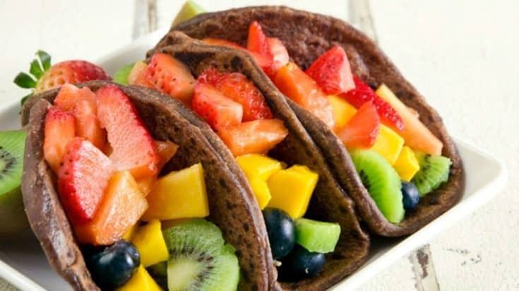 Fruit Breakfast Tacos