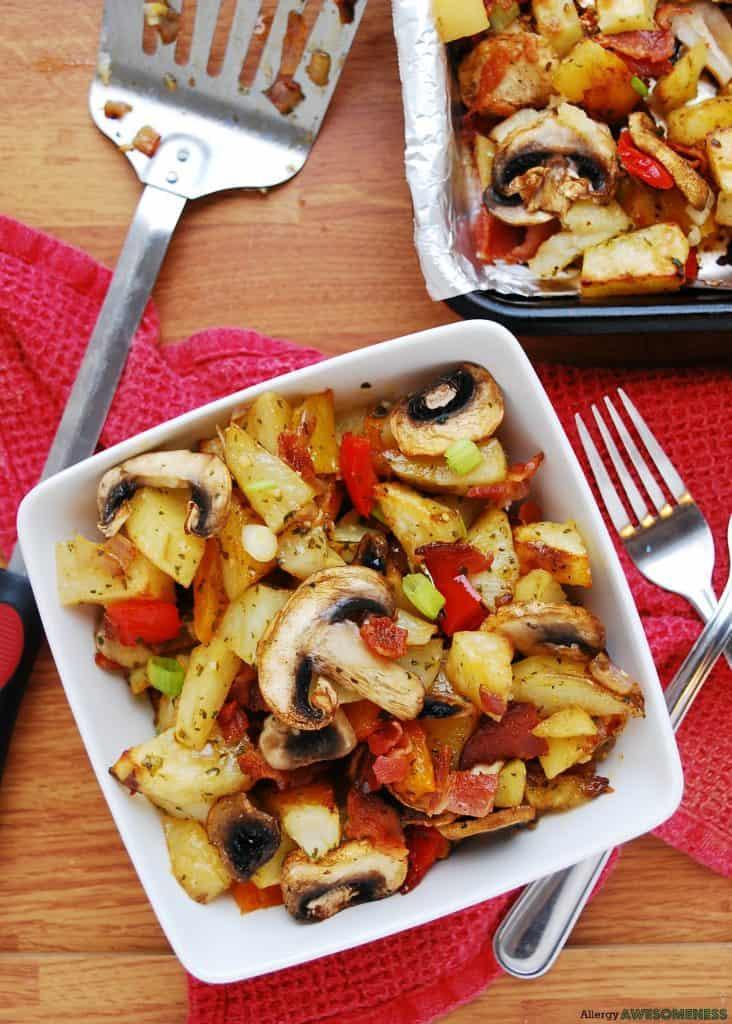 Dairy & Gluten-free Breakfast Bacon Potatoes