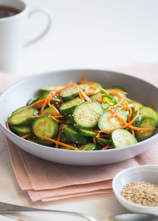 Sesame Cucumber Carrot Salad Recipe