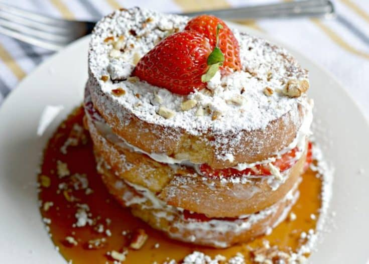 Strawberry and Cream Stuffed French Toast Recipe