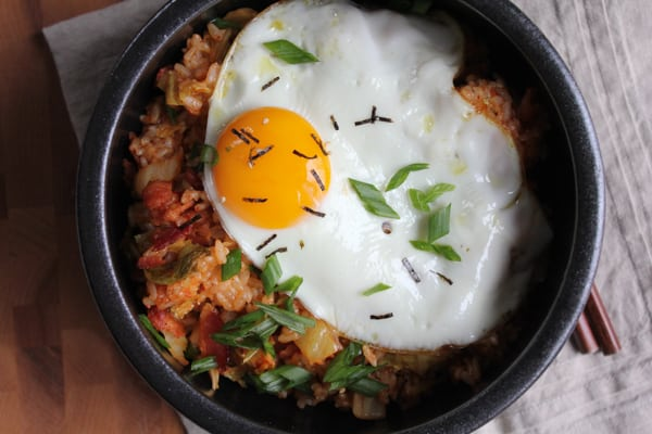 Korean Kimchi Fried Rice Bowl