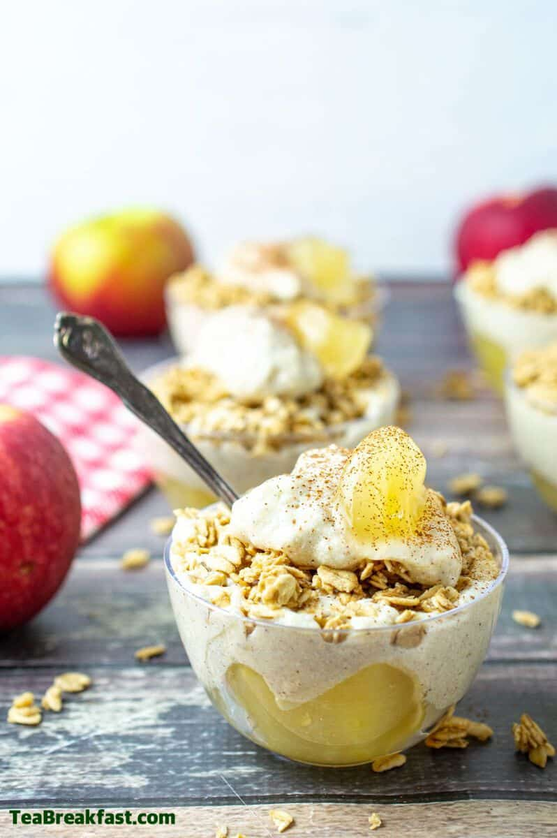 Apple Pie Cheesecake Parfaits by. TeaBreakfast.com