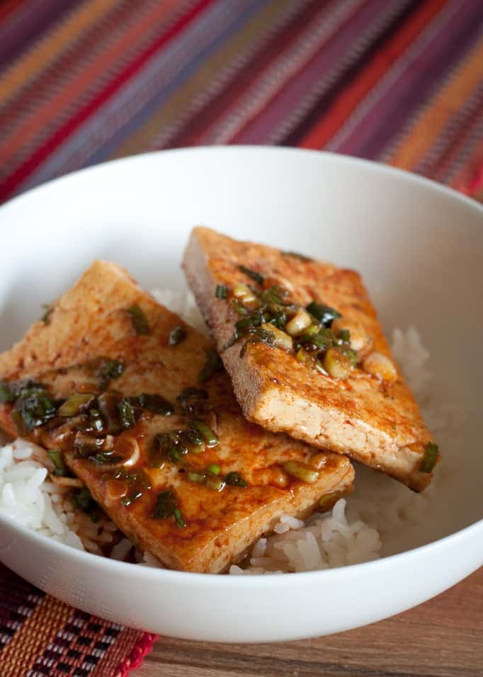 Traditional Korean Braised Tofu (Dubu Jorim)