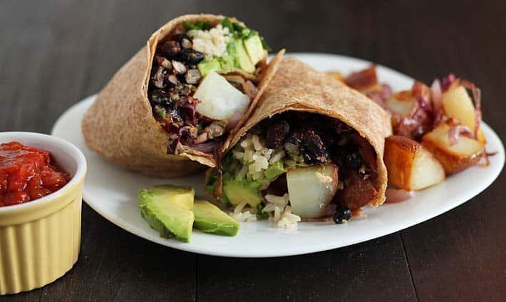 Loaded Vegan Breakfast Burrito