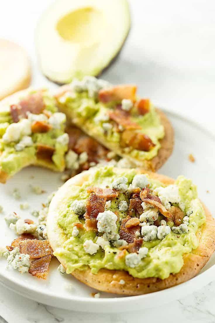 Avocado on Toast with Bacon and Blue Cheese