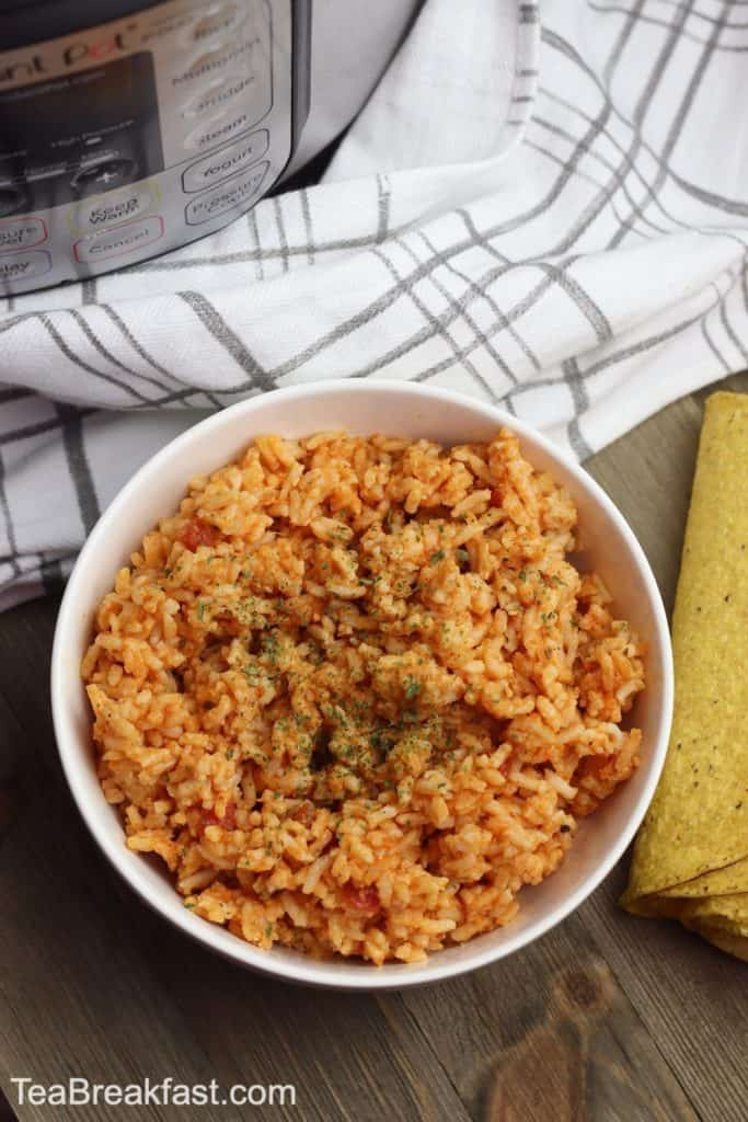 Instant Pot Mexican Rice by TeaBreakfast.com