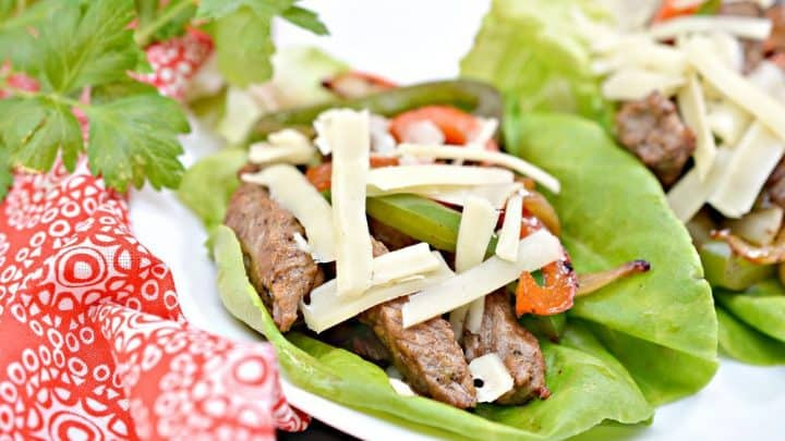 Philly Cheesesteak Lettuce Wraps