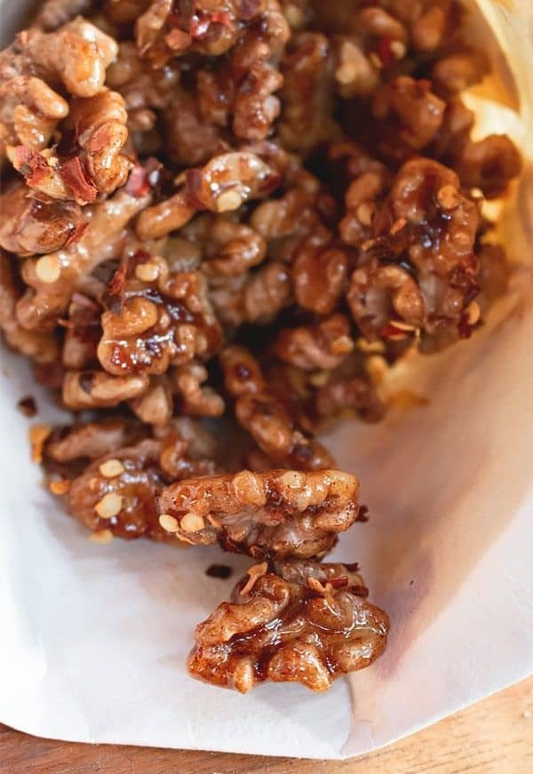 Roasted Walnuts with Spices and Honey