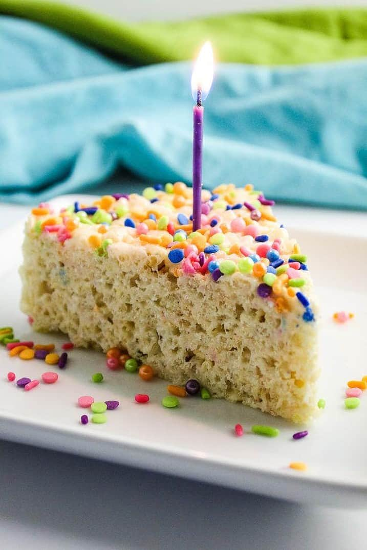 Cake batter Rice Krispie treat