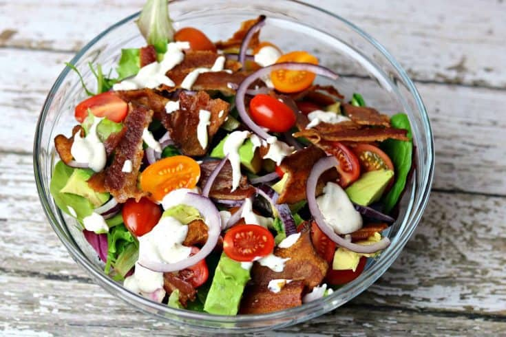 BLT Avocado Ranch Salad