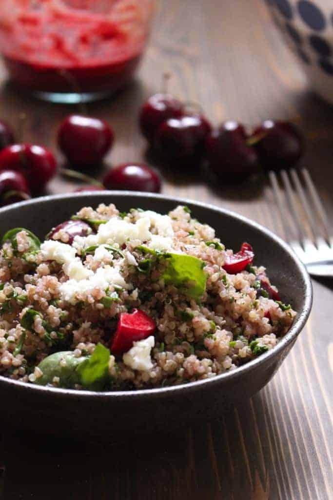 Cherry Balsamic Quinoa Salad