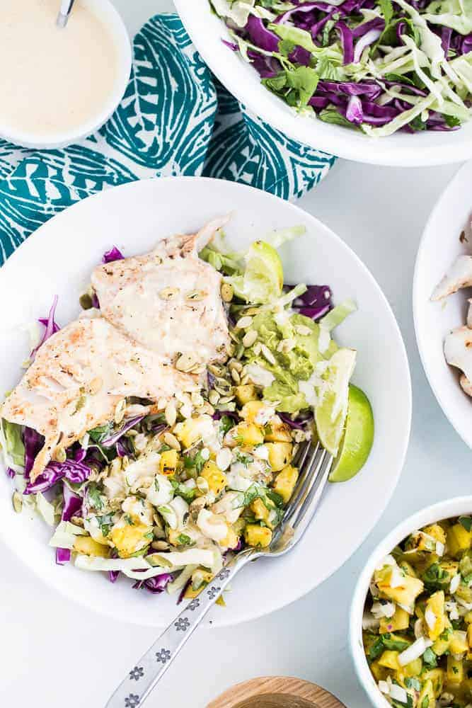 Chile-Lime Fish Taco Bowls