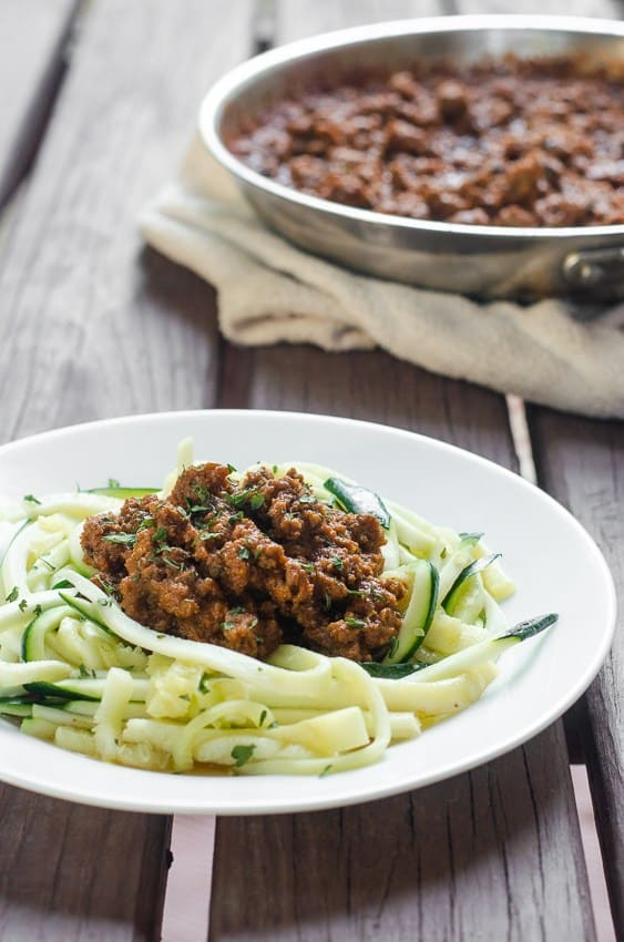 Classic meat sauce zoodles