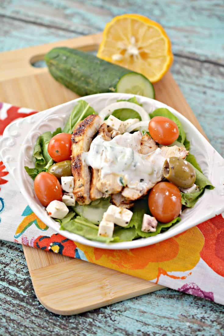 Low-Carb Greek Chicken Bowl