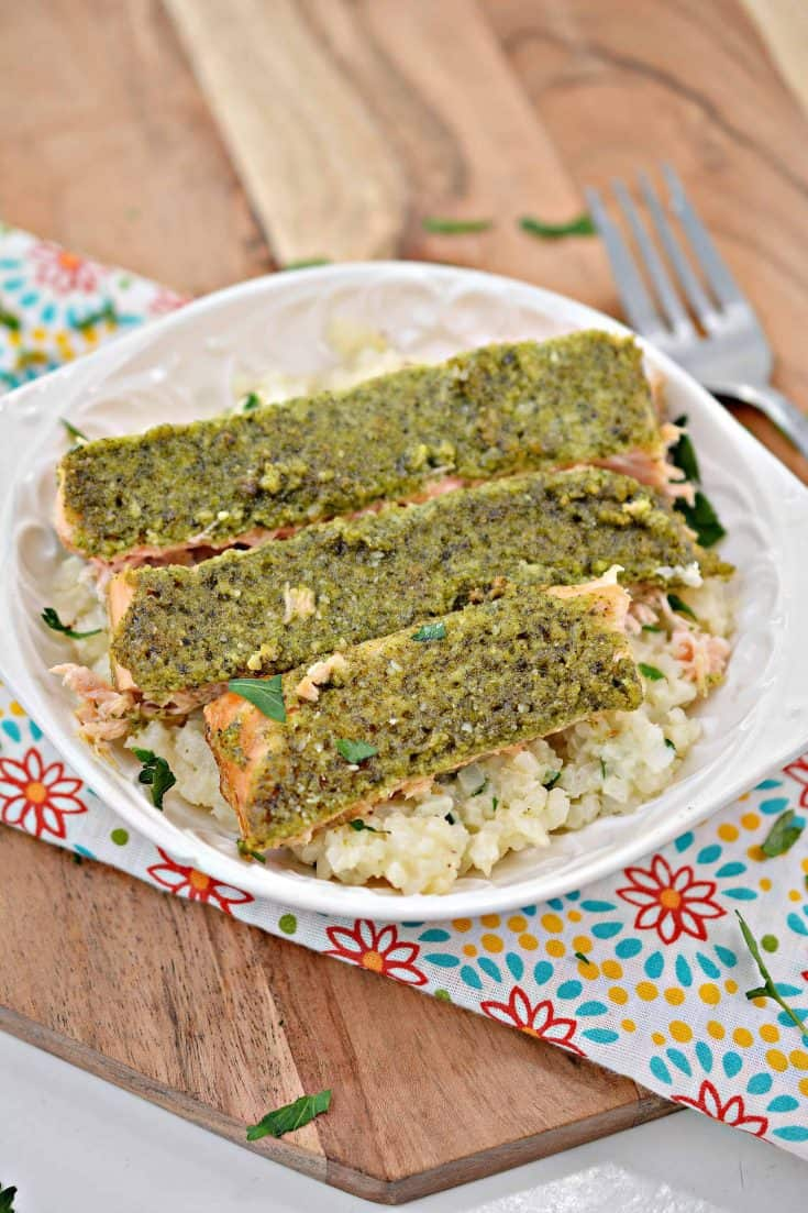 Salmon Rice Bowl (with Cauliflower Rice)
