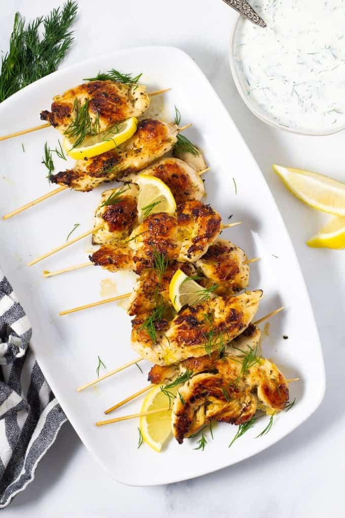 Simple Marinated Chicken Kebabs
